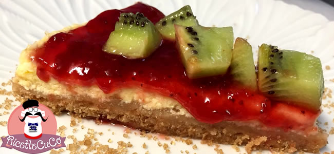 cheesecake cotta yogurt fragola frutta biscotti zucchero uova moulinex cuisine companion ricette cuco 8