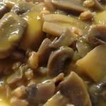 Farrotto con funghi champignon con il Cuisine Companion