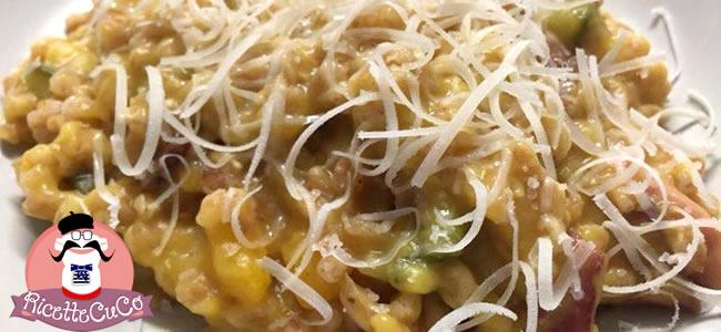farrotto zucca gialla zucchina speck ricette moulinex cuisine companion cuco