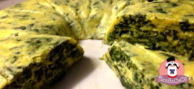 Frittata al vapore di Spinaci con Latte e Zafferano con il Cuisine Companion