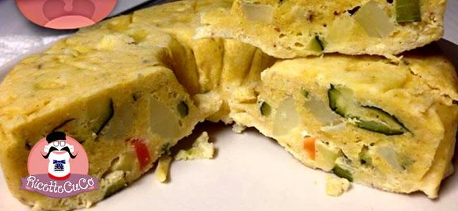 Frittata al vapore con farina di mais carote zucchine e patate con il Cuisine Companion