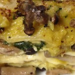 Lasagne bianche con Funghi Pioppini (chiodini) e Champignon, Pecorino crotonese bio e Zafferano con il Cuisine Companion