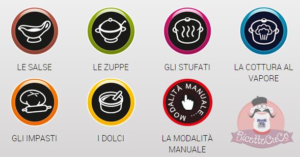 Programmi automatici del Moulinex Cuisine Companion ricettecuco ricette cuco bimby