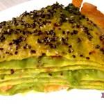 Crepes salate Millefoglie allo Zafferano con Salmone, Piselli e Semi di Chia con il Cuisine Companion