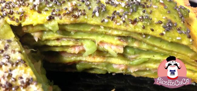crepes zafferano salmone piselli semi chia millefoglie microonde monsier cuisine moncu moulinex cuisine companion ricette cuco bimby 7
