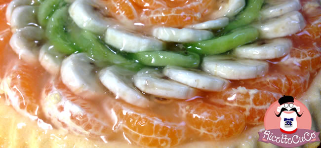 crostata morbida frutta fresca crema pasticcera gelatina faidate monsier cuisine moncu moulinex cuisine companion ricette cuco bimby