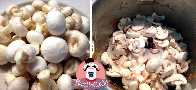 gnocchetti risottati speck funghi champignon carote prezzemolo monsier cuisine moncu moulinex cuisine companion ricette cuco bimby 3