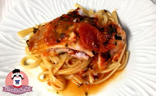 Linguine con Pesce Persico in rosso linguine persico pomodoro monsier cuisine moncu moulinex cuisine companion ricette cuco bimby 1