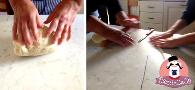 pasta fresca integrale cavatelli acqua farina bambini bimbi svezzamento pappe monsier cuisine moncu moulinex cuisine companion ricette cuco bimby 3