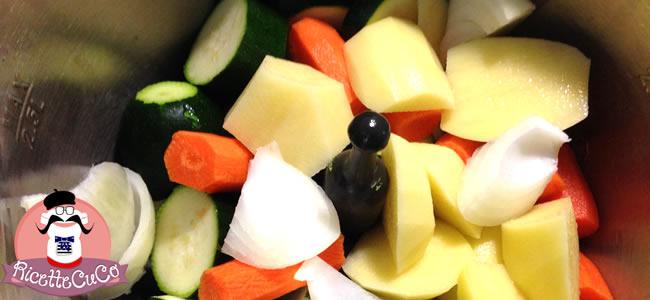 pastina stelline risottate verdure carote zucchine patate svezzamento bambini moulinex cuisine companion ricette cuco 3