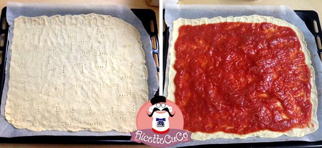 pizza light integrale senza lievito veloce bambini bimbi svezzamento pappe monsier cuisine moncu moulinex cuisine companion ricette cuco bimby 3