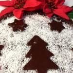 Crostata morbida al cioccolato e cocco in versione natalizia: libidinosa!!