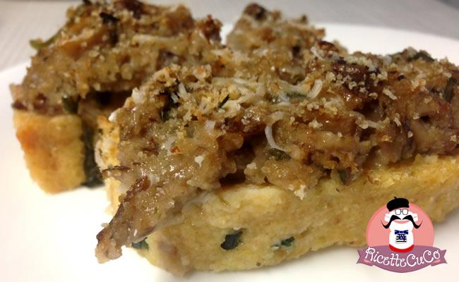 Polpettone di Pollo gratinato con Funghi Porcini con il Cuisine Companion