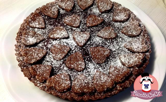 crostata cacao fragole san valentino frolla cioccolato senza burro olio light microonde monsier cuisine moncu moulinex cuisine companion ricette cuco bimby