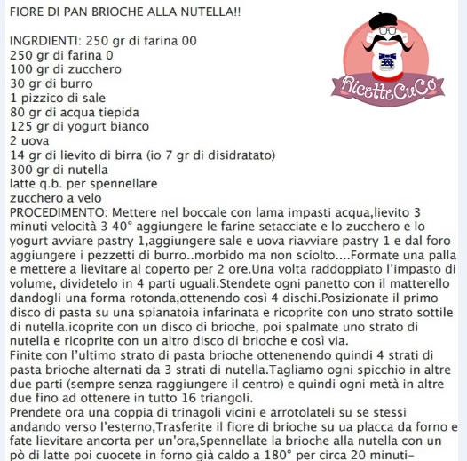 pan brioche fiore nutella natale microonde monsier cuisine moncu moulinex cuisine companion ricette cuco bimby