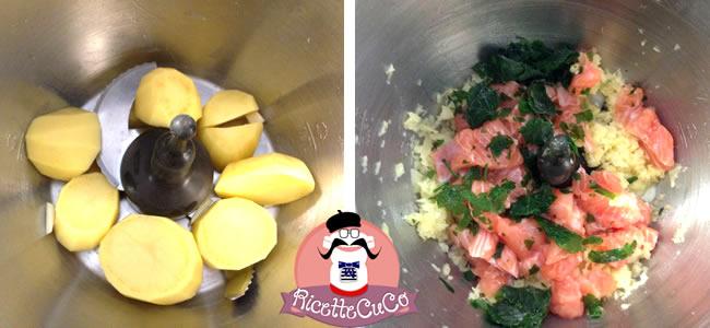 bocconcini salmone fresco patate bambini svezzamento pappe microonde monsier cuisine moncu moulinex cuisine companion ricette cuco bimby