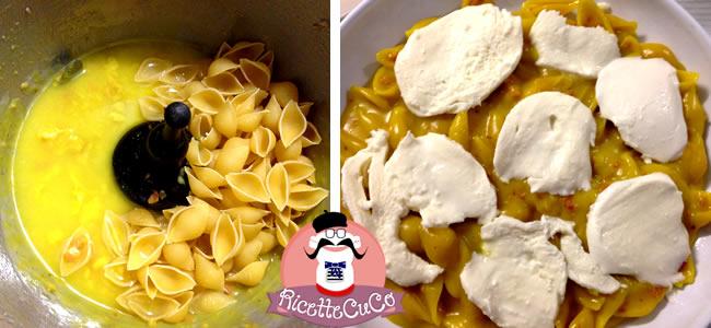 conchiglie filanti prosciutto crudo mozzarellapasta risottata microonde monsier cuisine moncu moulinex cuisine companion ricette cuco bimby
