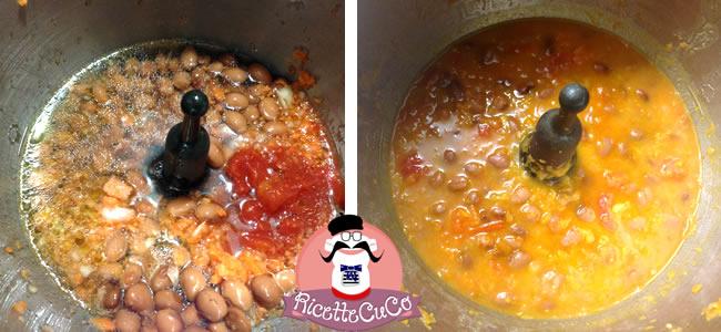pasta fagioli borlotti microonde monsier cuisine moncu moulinex cuisine companion ricette cuco bimby
