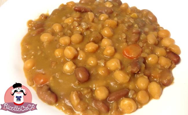 zuppa fagioli borlotti secchi ceci farro perlato bambini legumi microonde monsier cuisine moncu moulinex cuisine companion ricette cuco bimby