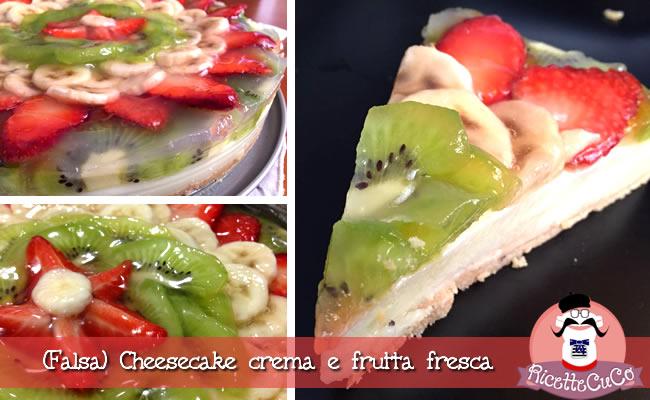 falsa cheesecake crema frutta fresca torta fredda monsieur cuisine moncu moulinex cuisine companion ricette cuco bimby