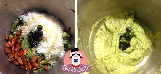 pesto asparagi alimentazione bambini bimbi ricette piccoli frullatore immersione minipimer microonde monsieur cuisine moncu moulinex cuisine companion ricette cuco bimby