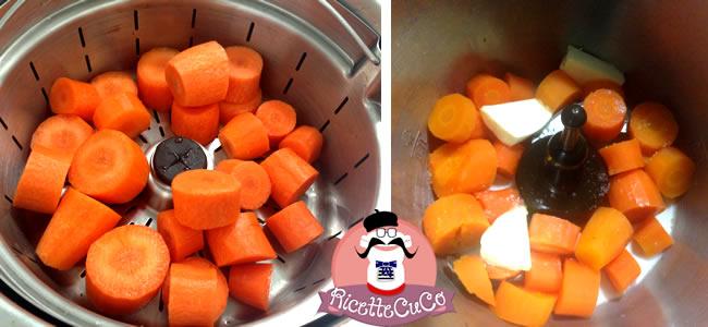 pure carote bambini bimbi svezzamento alimentazione piccoli monsieur cuisine moncu moulinex cuisine companion ricette cuco bimby