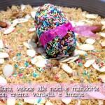 Cheesecake Sbrisolona veloce alle noci e mandorle con crema vaniglia e limone… detta anche (falsa) Cheesecake Colomba Pasquale