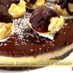 Cheesecake (falsa) Bounty: la mia torta fredda cioccolato e cocco. Nuova versione per un compleanno