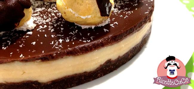 torta fredda bounty cocco cioccolato cheesecake bounty profiteroles monsieur cuisine moncu moulinex cuisine companion ricette cuco bimby