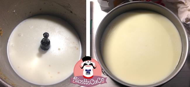 torta mimosa cheesecake fredda crema latte ananas senza cottura monsier cuisine moncu moulinex cuisine companion ricette cuco bimby