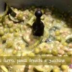 Zuppa di farro, piselli freschi, zucchine con il Cuisine Companion