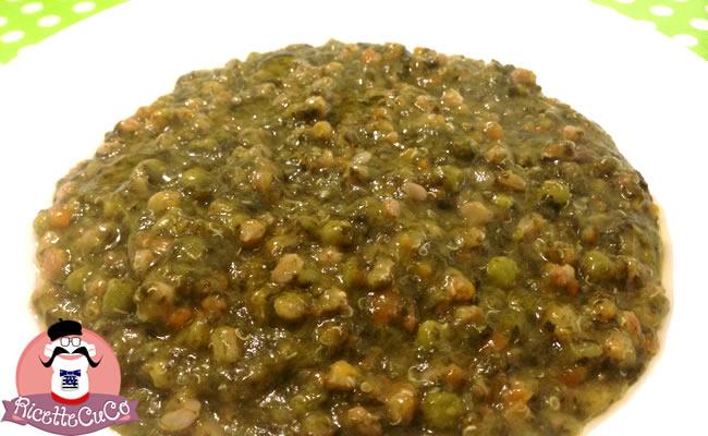 zuppa ricca farro quinoa ortaggi verdure misti svezzamento bambini monsieur cuisine moncu moulinex cuisine companion ricette cuco bimby