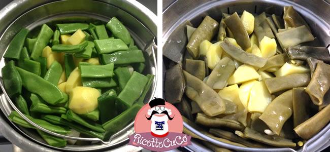 insalata patate fagiolini piattoni vapore monsieur cuisine moncu moulinex cuisine companion ricette cuco bimby