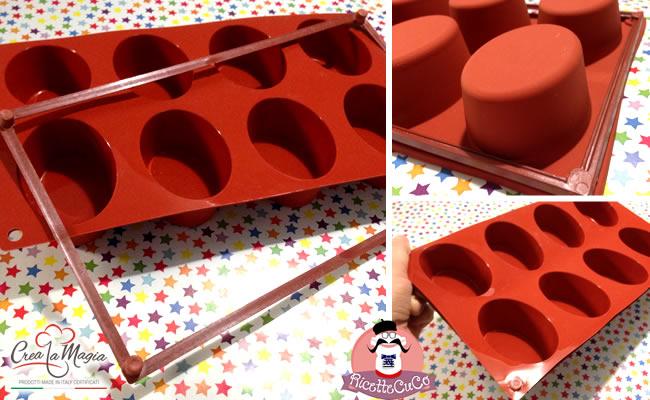 stampo ovale sf055 crea la magia stampi silicone torte formine dolci salati monsieur cuisine moulinex cuisine companion ricette cuco bimby ricettecuco