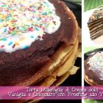 Crepes dolci Millefoglie Vaniglia e Cioccolato con Frosting allo Yogurt con il Cuisine Companion