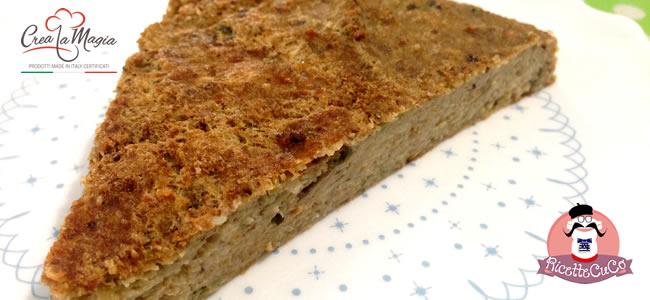 tortino melanzane pesto stampo crostata crea la magia monsieur cuisine moulinex cuisine companion ricette cuco bimby ricettecuco