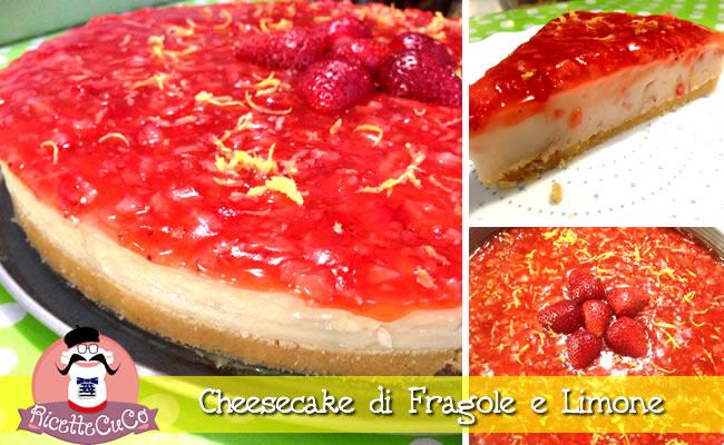 cheesecake fragole limone senza formaggio senza cottura forno senza gelatina colla pesce amonsieur cuisine moncu moulinex cuisine companion ricette cuco bimby