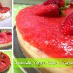 Cheesecake allo yogurt con Cocco e Fragole, senza cottura, con il Cuisine Companion