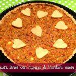 Torta salata brisè con ripieno di verdure miste con il Cuisine Companion