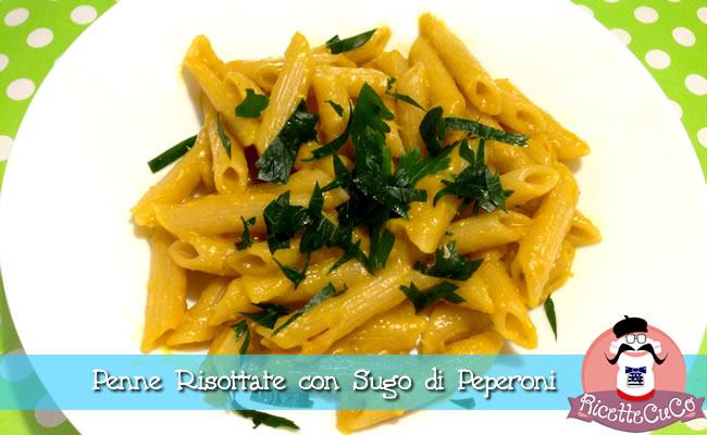 penne risottate sugo peperoni monsieur cuisine moncu moulinex cuisine companion ricette cuco bimby