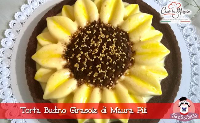 torta budino girasole maura pili stampo sunflower crea la magia monsieur cuisine moulinex cuisine companion ricette cuco bimby ricettecuco