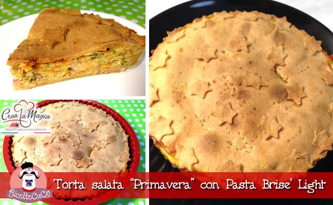 Torta Salata Primavera Con Pasta Brise Light Con Il Cuisine