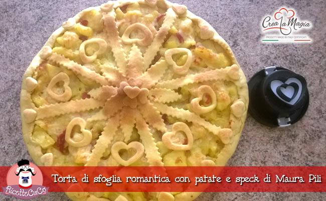 torta sfoglia patate speck cutter heart crea la magia monsieur cuisine moulinex cuisine companion ricette cuco bimby ricettecuco maura pili