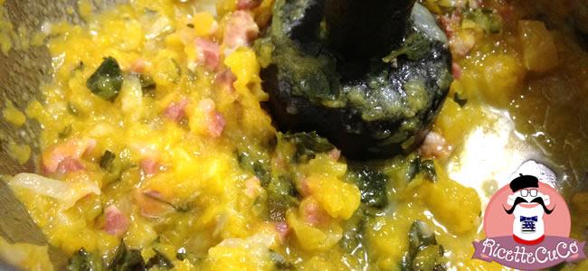 primo zucca gialla pancetta monsieur cuisine moncu moulinex cuisine companion ricette cuco bimby
