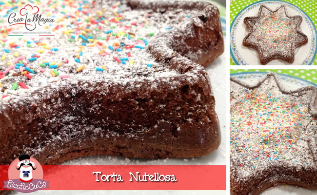 torta nutellosa due ingredienti facile stampo big star crea la magia monsieur cuisine moulinex cuisine companion ricette cuco bimby ricettecuco