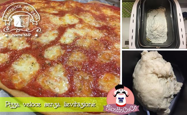 pizza veloce senza lievitazione macchina del pane ricetta mdp monsieur cuisine moncu moulinex cuisine companion ricette cuco bimby