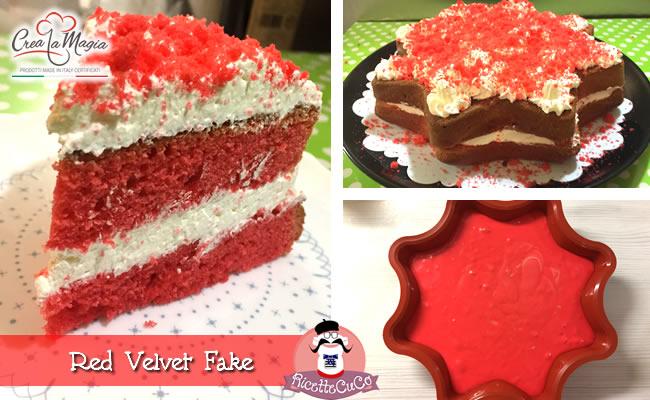 red velvet falsa fake frosty yogurt panna philadephia stampo big star stella crea la magia monsieur cuisine moulinex cuisine companion ricette cuco bimby ricettecuco