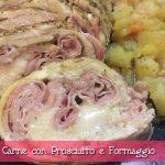 Rollè di Carne con Prosciutto e Formaggio al Microonde con funzione Crisp