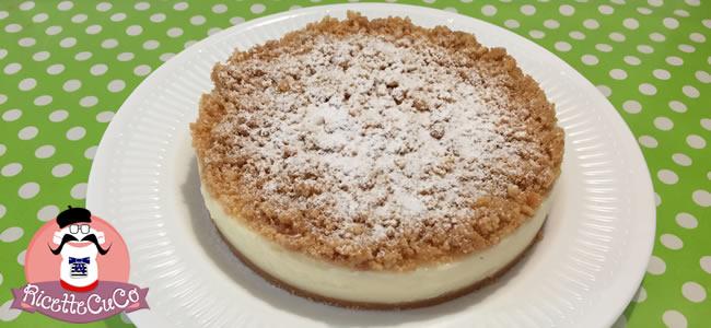 Sbrisolona Cheesecake (falsa) al Limone senza Lattosio con il Cuisine Companion monsieur cuisine moncu moulinex cuisine companion ricette cuco bimby